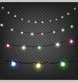 bright christmas lights clipart isolated on vector image