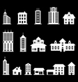 Building set 3 - White vector image vector image
