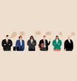business people talking vector image vector image