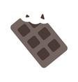 chocolat bar flat vector image vector image