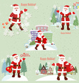 Collection of Santa Claus Santa Claus in the city vector image vector image