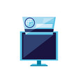 computer monitor with credit card vector image vector image