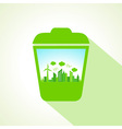 Ecology concept with recycle bin stock vector image vector image