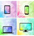 Electronic devices backgrounds vector image