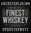 finest whiskey poster vector image vector image