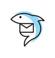fish mail logo vector image vector image
