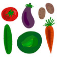 flat cartoon vegetables set vector image vector image