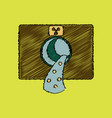 flat shading style icon nuclear waste vector image vector image