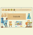 flat tailoring template vector image