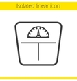 Floor scales icon vector image vector image