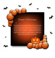frame halloween with basketball balls vector image vector image