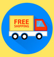 free shipping truck flat vector image