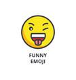 funny emoji line icon sign vector image
