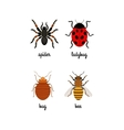 Insects colorful flat icons set vector image vector image