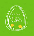 line style easter eggs vector image vector image