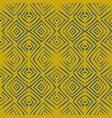 linocut rhombus tile blue seamless pattern vector image
