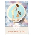Little Daughter Gives Mom A Gift For Mothers Day vector image