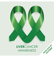 Liver cancer ribbon vector image