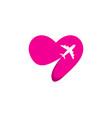 love travel logo icon design vector image