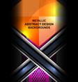 metallic abstract background design vector image vector image
