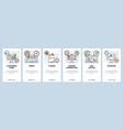 mobile app onboarding screens email ebook vector image vector image