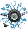 Multi Tractor Wheel vector image