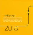 New year 2018 plug and socket