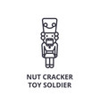 nut cracker toy soldier line icon outline sign vector image vector image