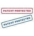 Patent Protected Rubber Stamps vector image vector image