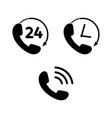 phone icon set in flat style telephone symbols vector image vector image