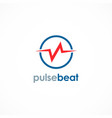 pulse beat logo vector image
