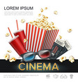 realistic cinema colorful template vector image vector image