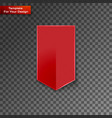 red bookmarks isolated on transparent vector image