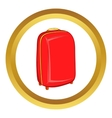 Red travel suitcase icon vector image vector image