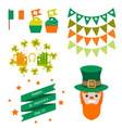 saint patricks day party objects vector image vector image