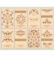 Set booklet design template floral ornamental vector image vector image