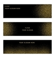 Set Gold Glitter Card and Background vector image vector image