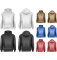 Set of black and white and colorful male hoodies vector image vector image