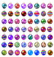 set of decorative glass beads vector image vector image