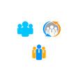 set of human resource concept logo vector image