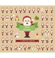 Set of Santa Claus character vector image vector image