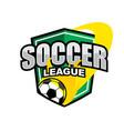 soccer league logo vector image vector image