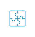 solving puzzles linear icon concept solving vector image