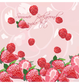 Summer Background with Red berries vector image vector image