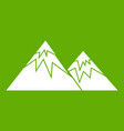 swiss alps icon green vector image vector image