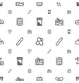 treatment icons pattern seamless white background vector image vector image