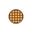 waffle round logo design inspiration vector image