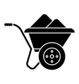 wheelbarrow icon black sign vector image