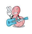 with guitar worm mascot cartoon style vector image vector image