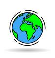 world earth icon vector image vector image